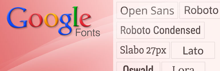 WP Google Fonts plugin banner