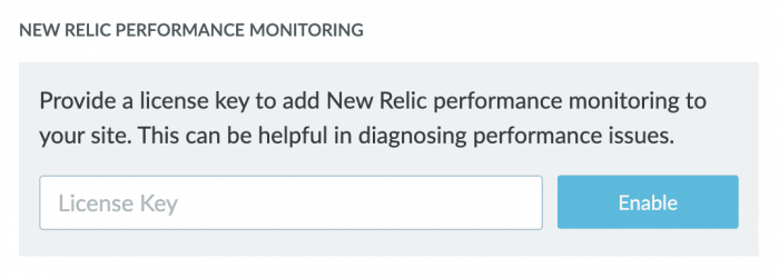 New Relic performance monitoring from Liquid Web's dashboard